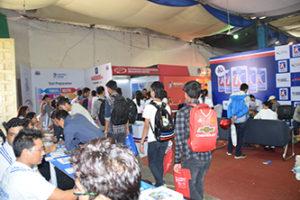 students visiting stall - ecan 2016