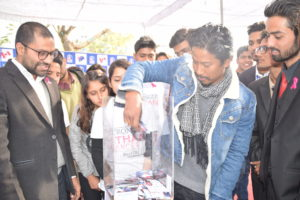 Nischal Basnet taking KIEC Privilege card