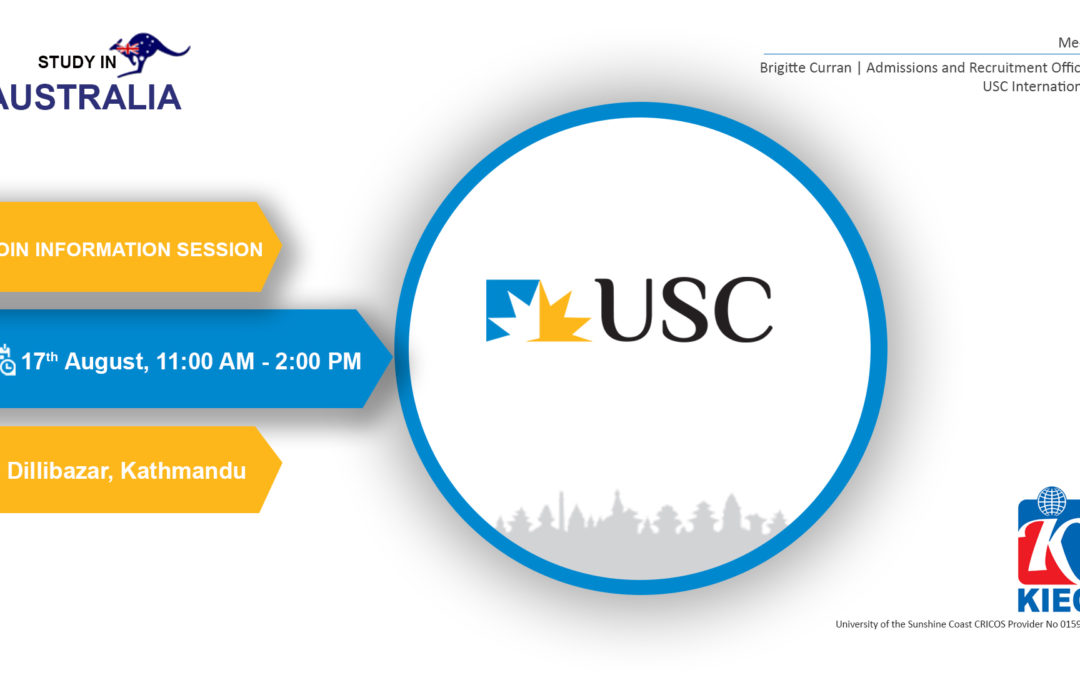 Join Information Session by University of the Sunshine Coast (USC)