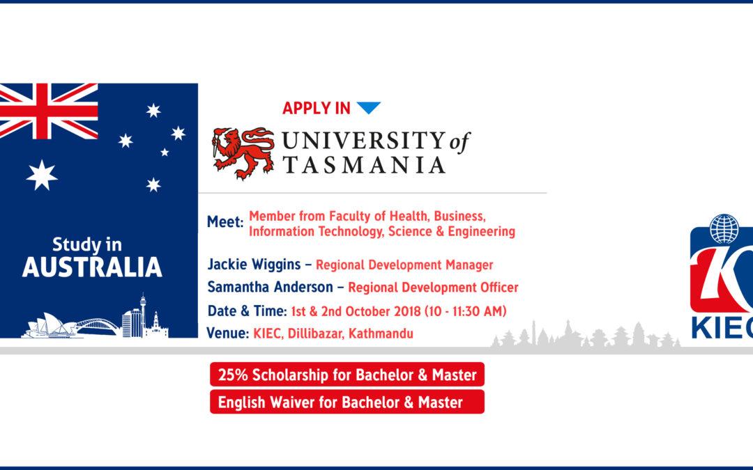 University of Tasmania Visit at KIEC-Admission day