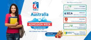 australia admission week