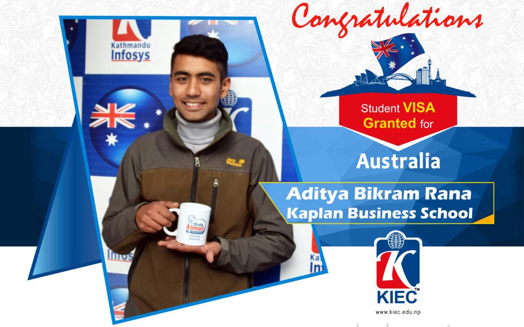Aditya Bikram Rana | Australia Visa Granted