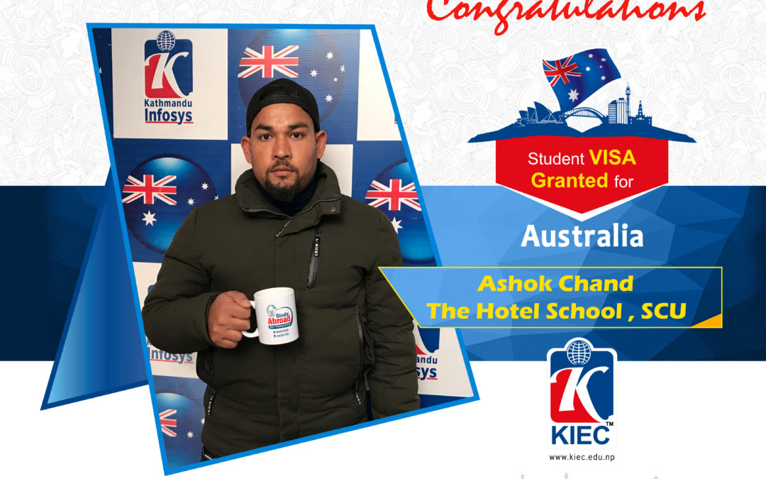Ashok Chand | Australia visa Granted