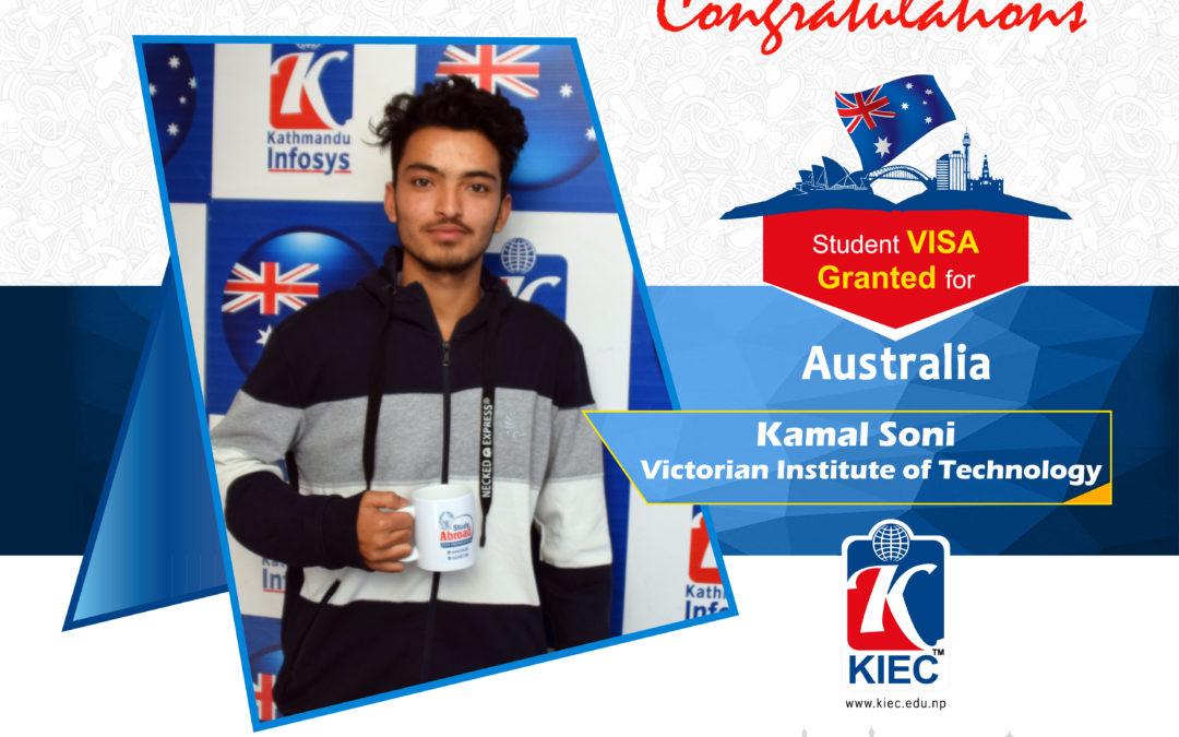 Kamal Soni | Australian Study Visa Granted