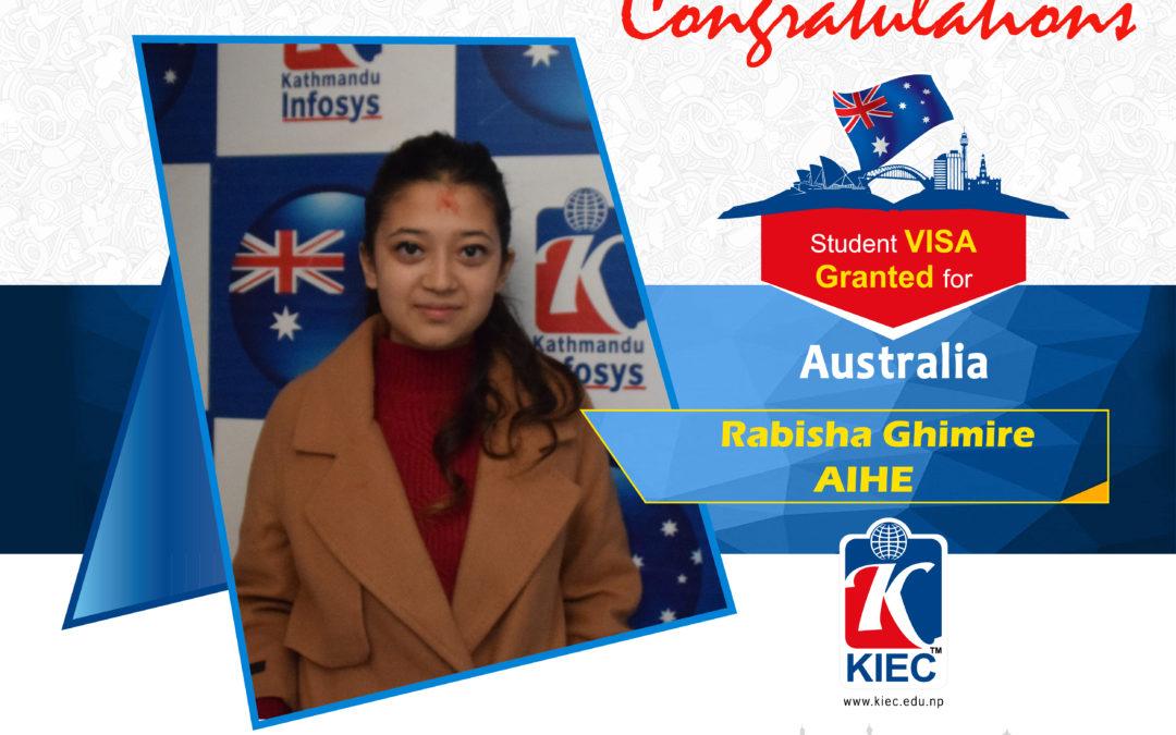 Rabisha Ghimire | Australia study Visa Granted