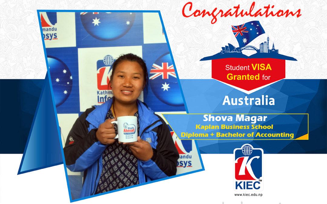 Shova Magar | Australia Study Visa Granted