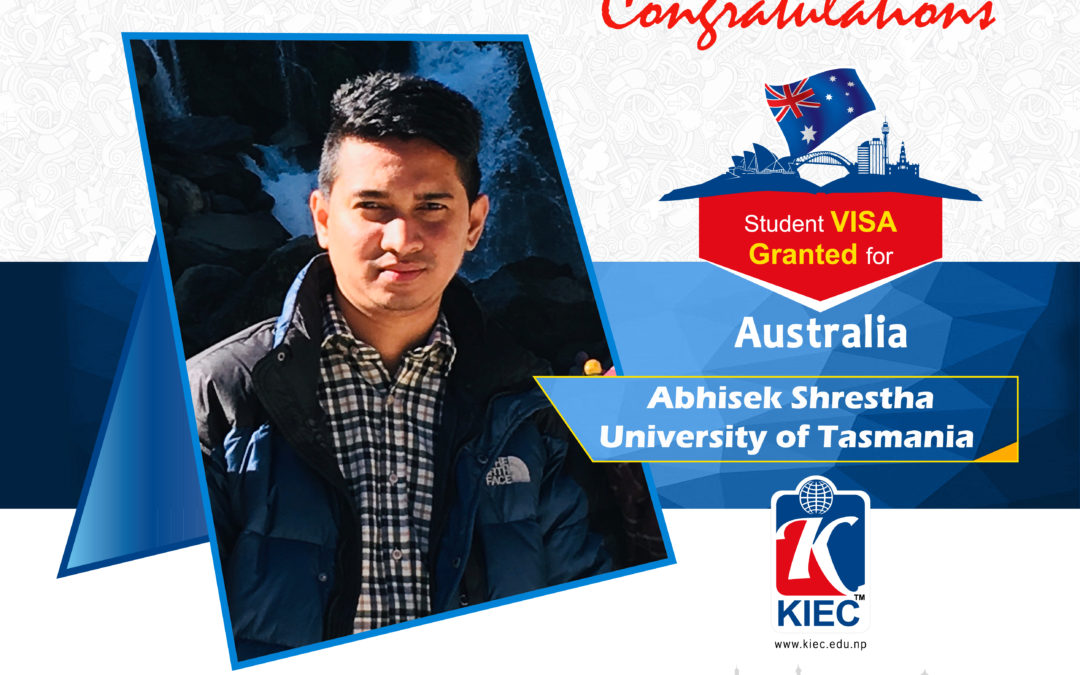 Abhishek Shrestha | Australia Study visa Granted