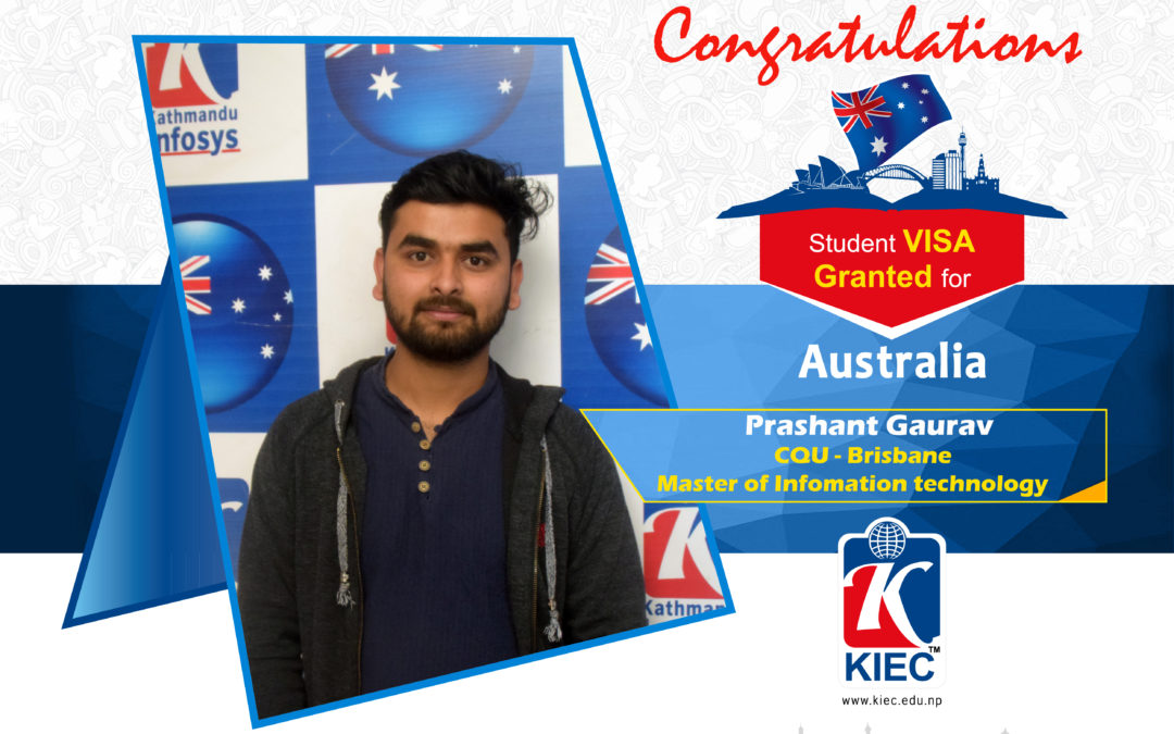 Prashant Gaurav | Australia Study Visa Granted