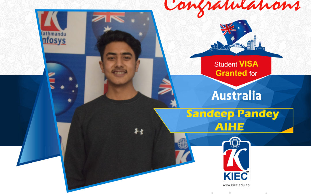 Sandip Pandey | Australia Study Visa Granted
