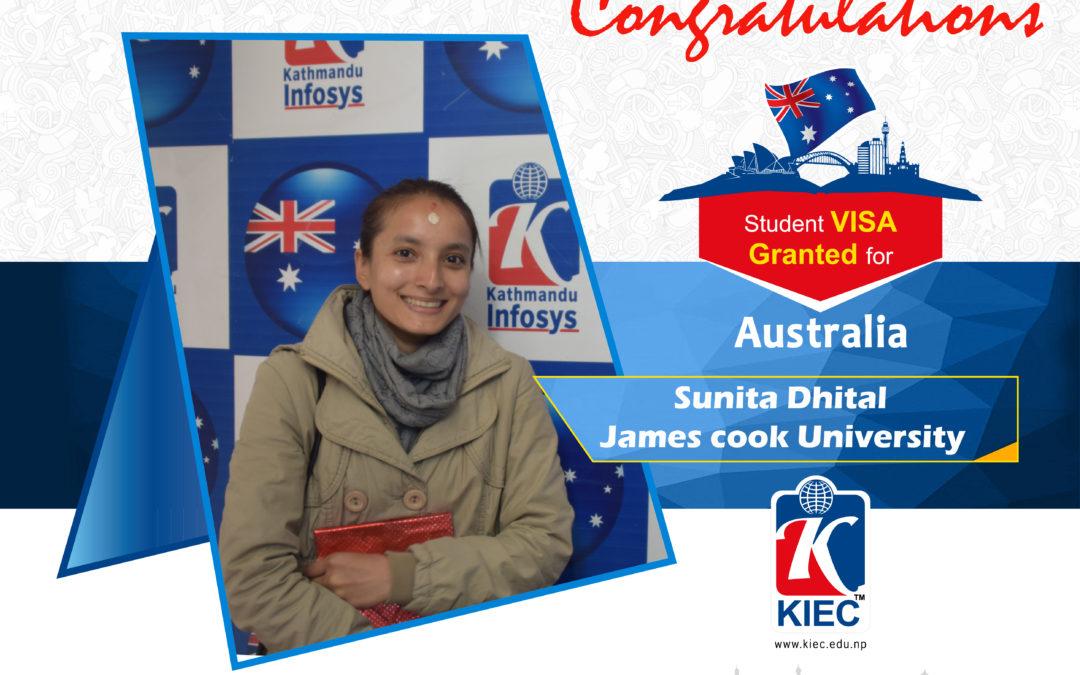 Sunita Dhital | Australian Visa Granted