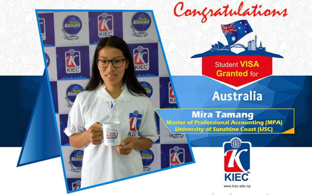 Mira Tamang | Australia Study Visa Granted