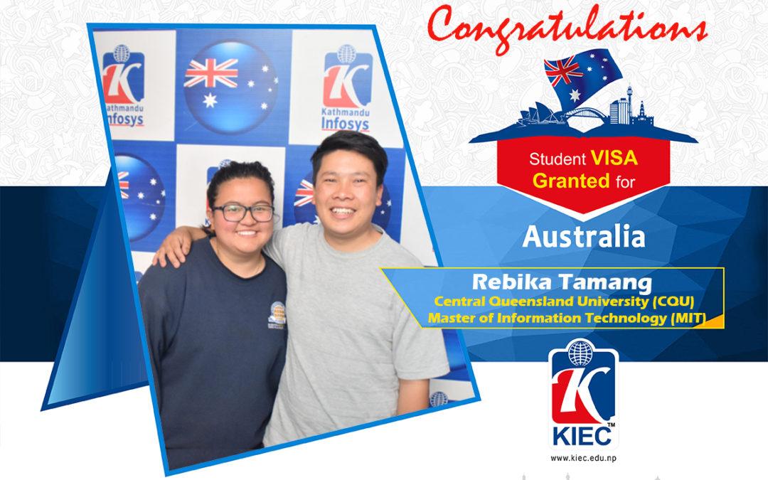 Rebika Tamang | Australia Study Visa Granted