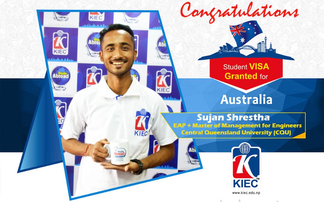 Sujan Shrestha | Australian Study Visa Granted