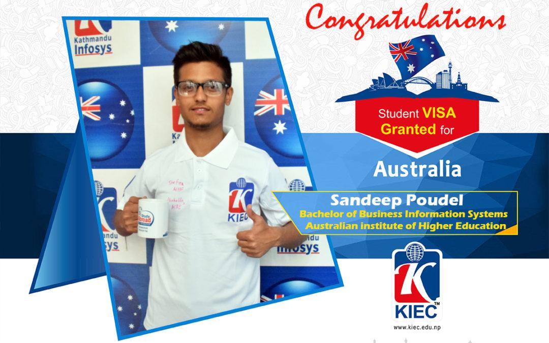 Sandeep Poudel | Australia Study Visa Granted