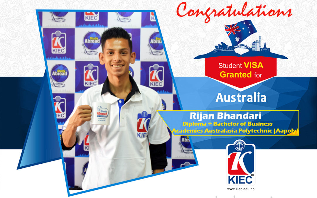 Rijan Bhandari | Australian Study Visa Granted