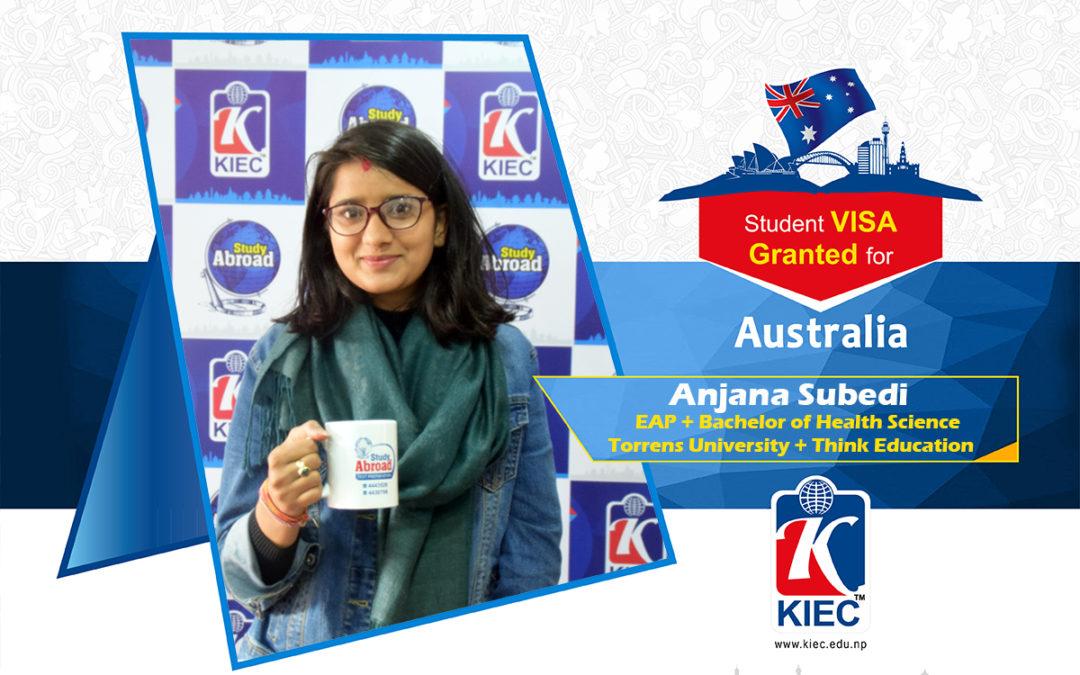 Anjana Subedi | Australia Study Visa Granted