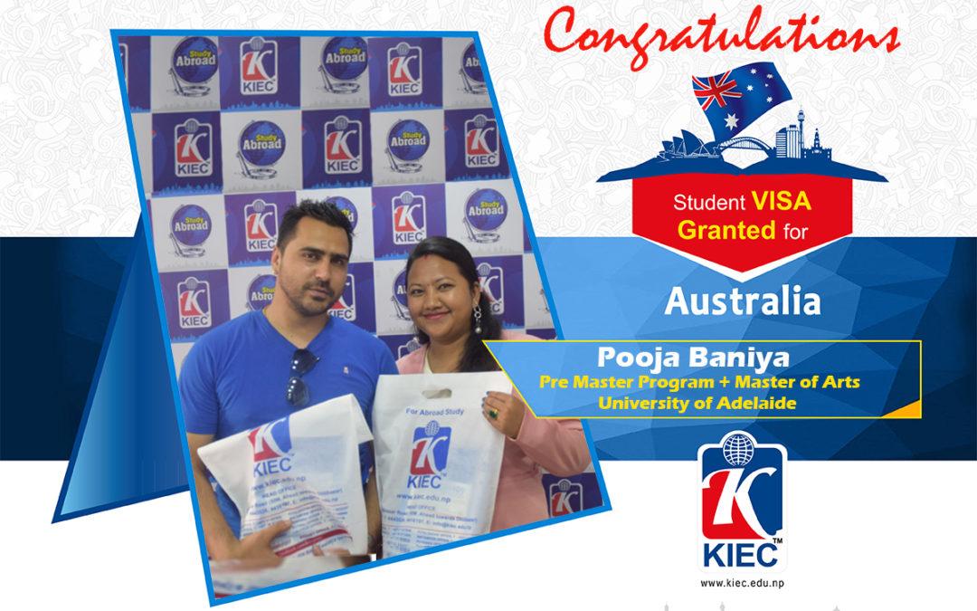 Pooja Baniya Thapa | Australian Study Visa Granted