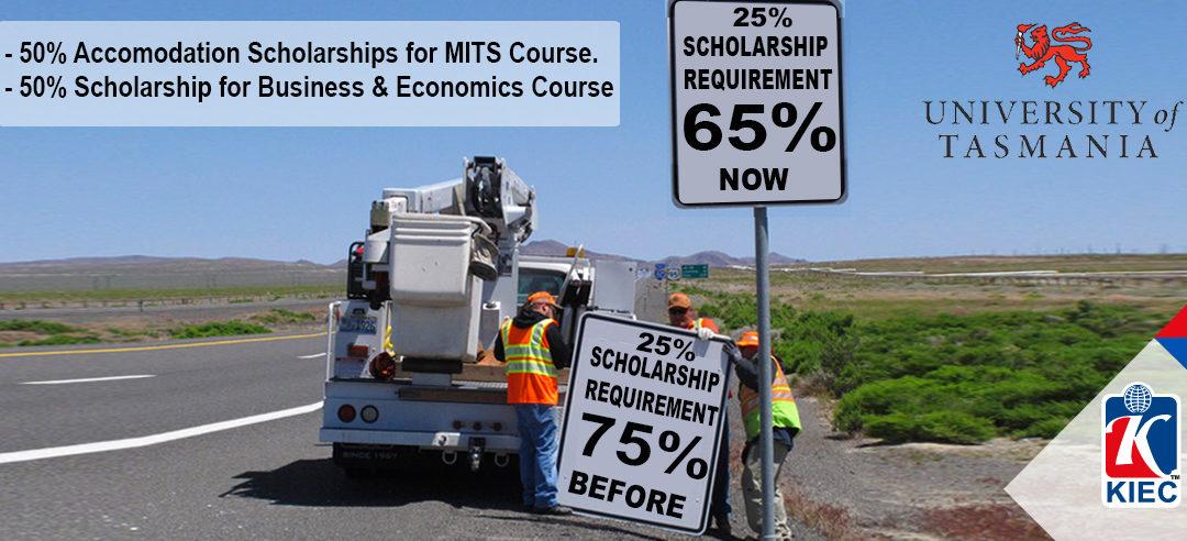 Study in UTAS with Scholarships* ( Academic, Accomodation etc) from KIEC