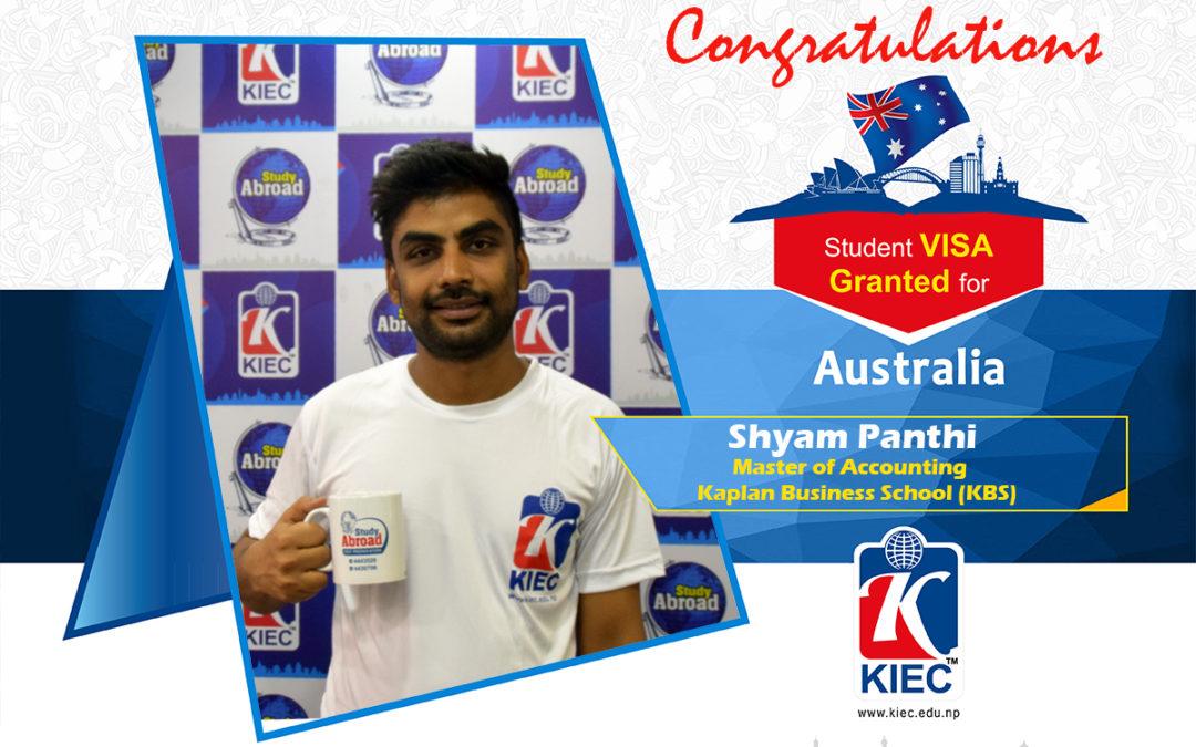 Shyam Panthi   Australian Study Visa Granted