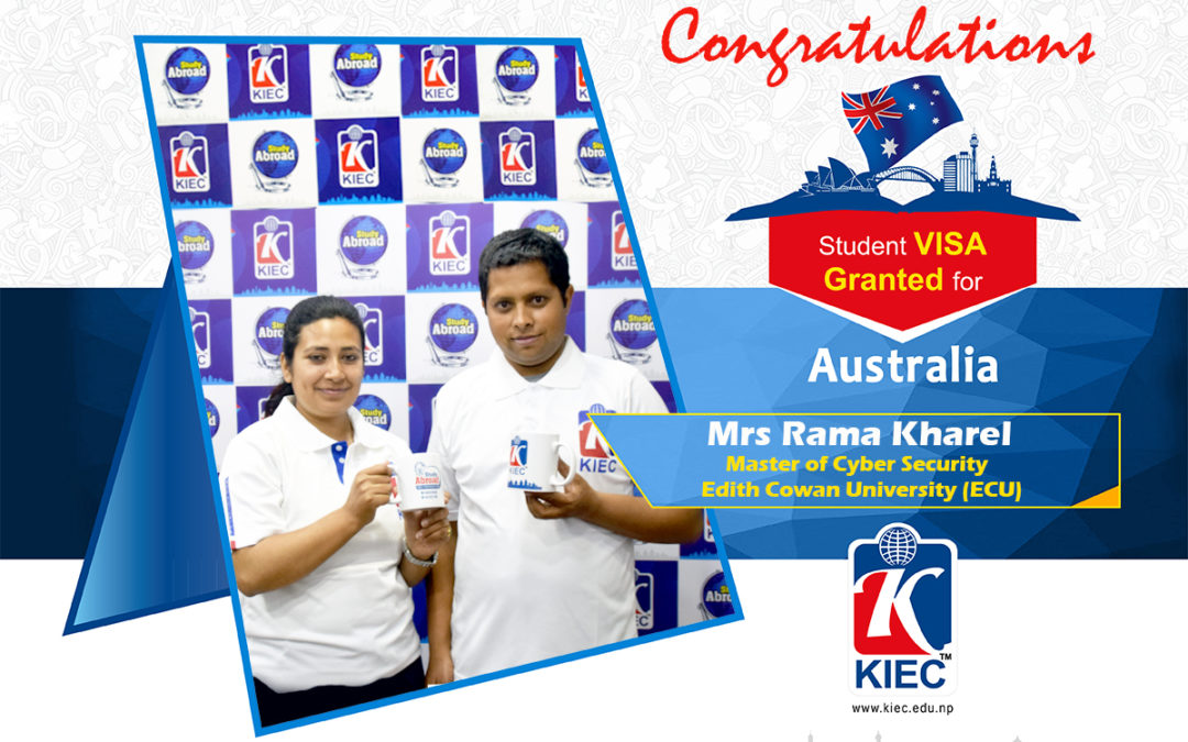 Mrs Rama Kharel with Mr Ramesh Upreti | Australian Study Visa Granted