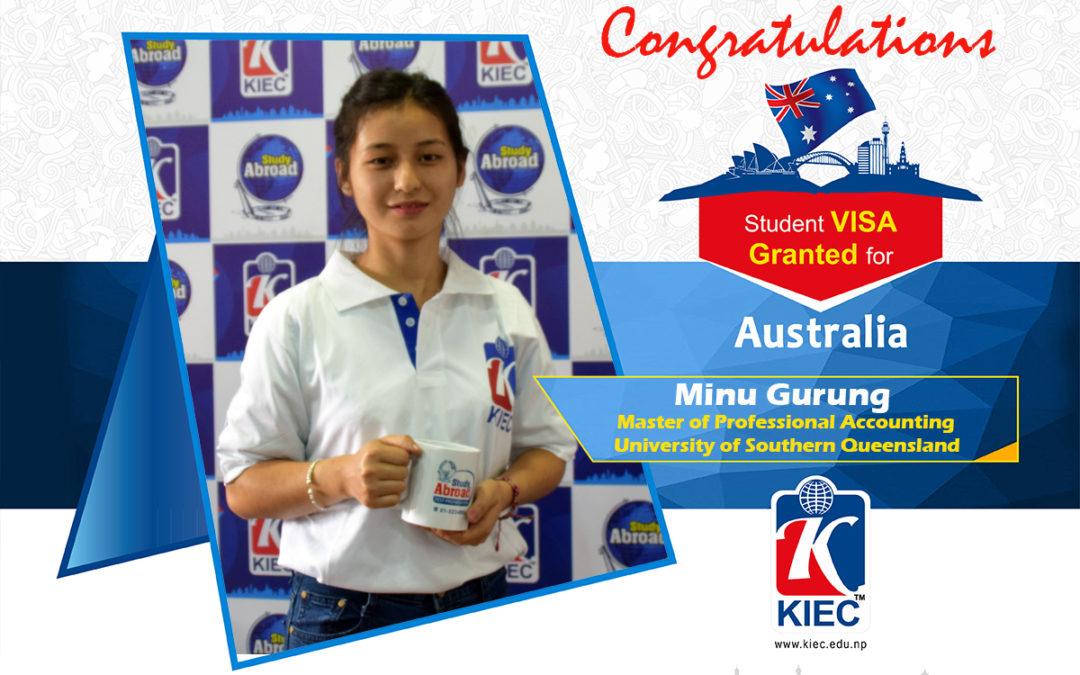 Minu Gurung | Australia Study Visa Granted
