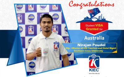 Nirajan Poudel | Australia Study Visa Granted