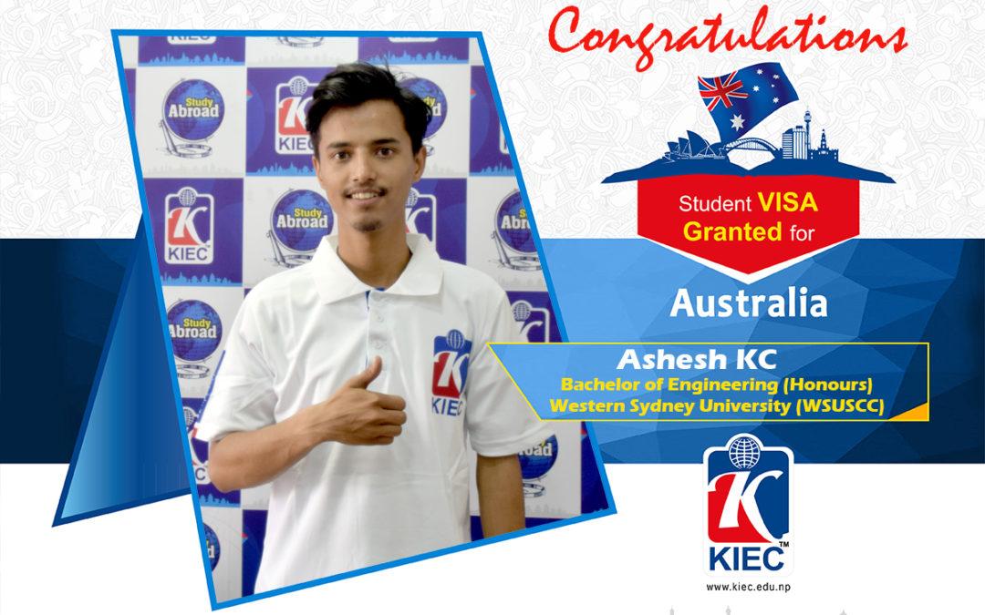 Ashesh KC | Australia Study Visa Granted