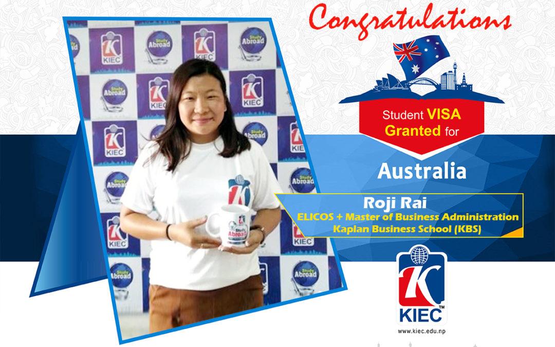 Roji Rai | Australia Study Visa Granted
