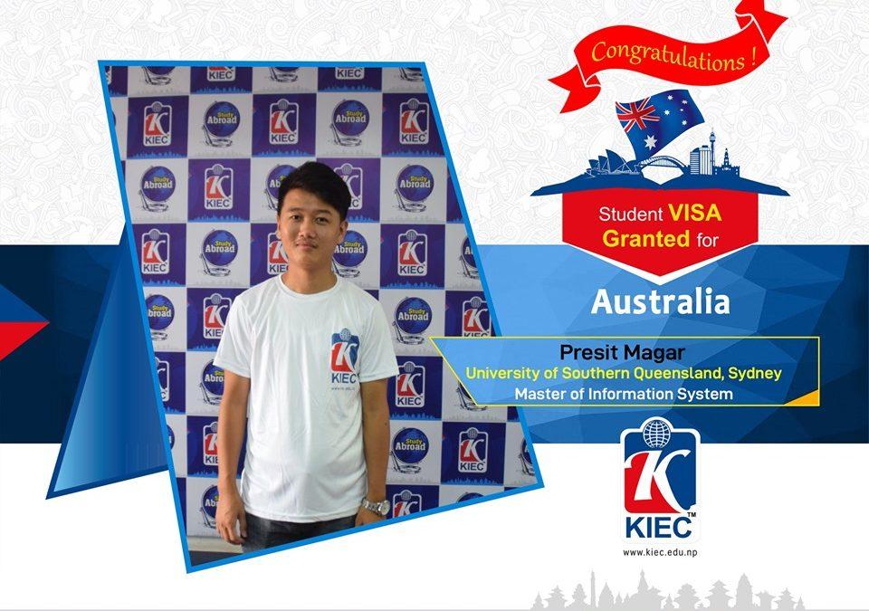 Presit Magar | Australian Study Visa Granted