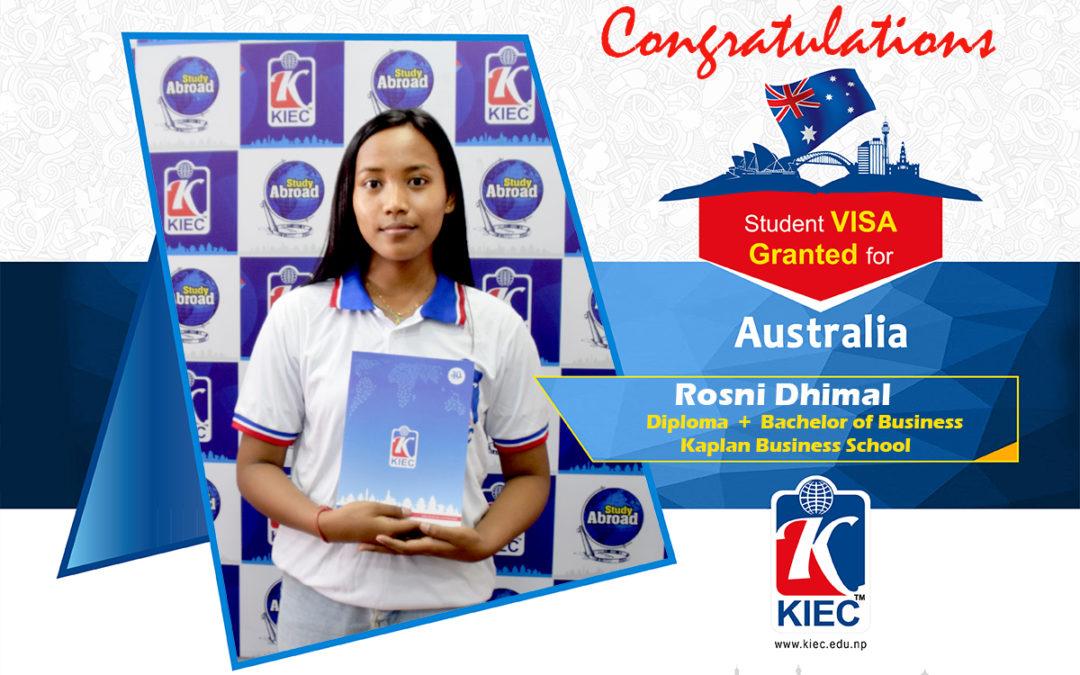 Rosni Dhimal | Australia Study Visa Granted