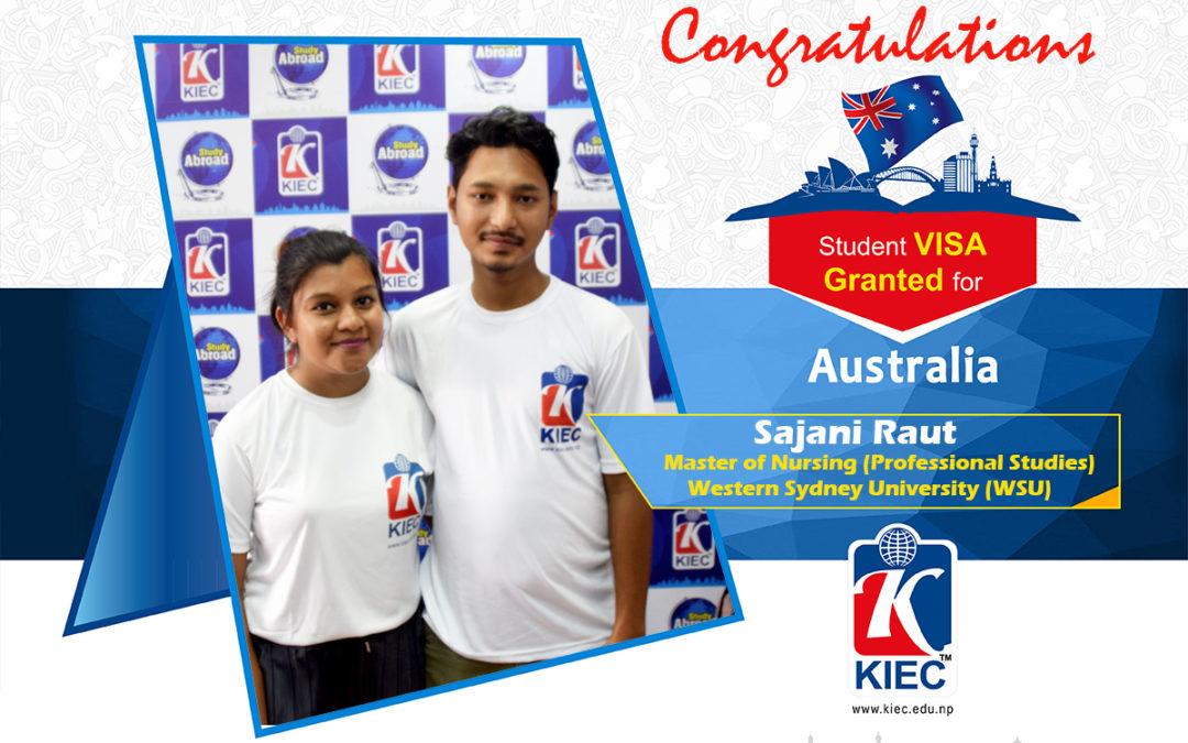 Sajani Raut | Australia Study Visa Granted