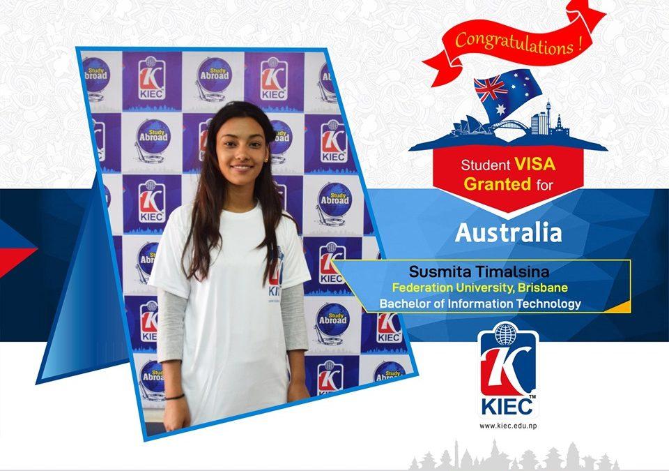 Sushmita Timalsina | Australia Study Visa Granted
