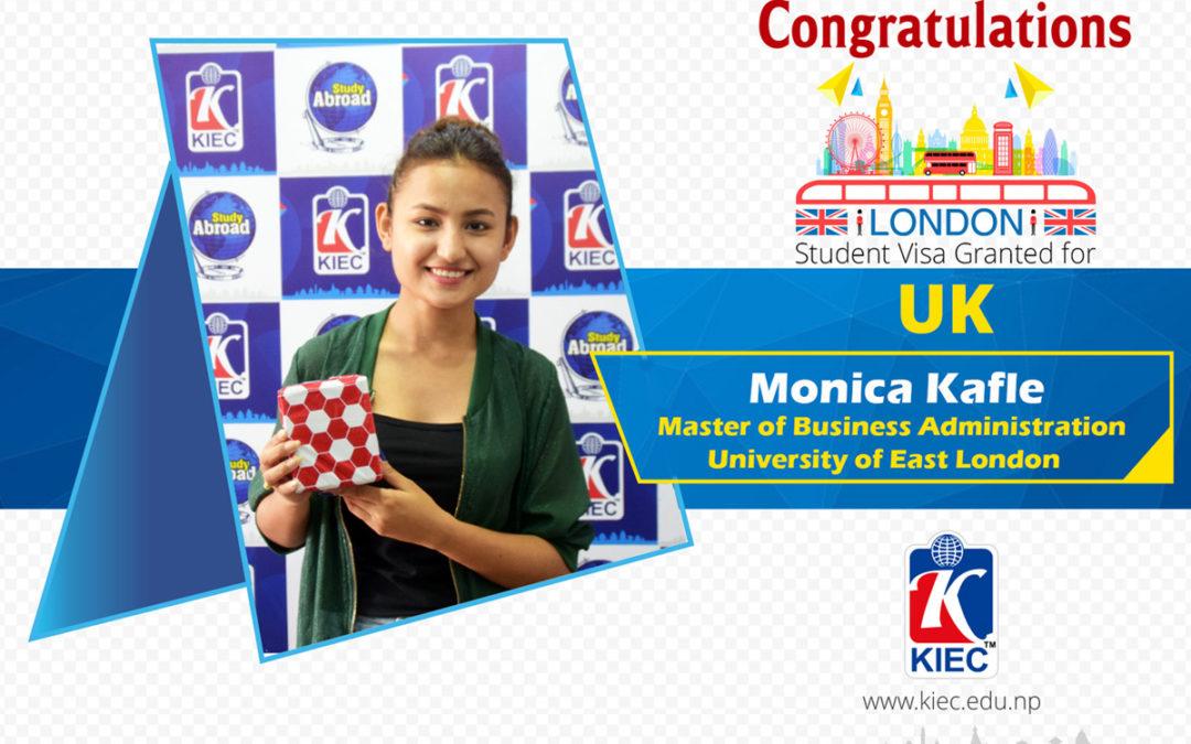Monica Kafle | UK Study Visa Granted