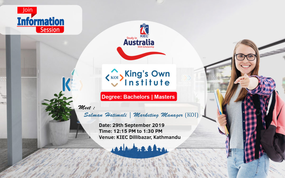 Join Information session King's Own Institute, Australia