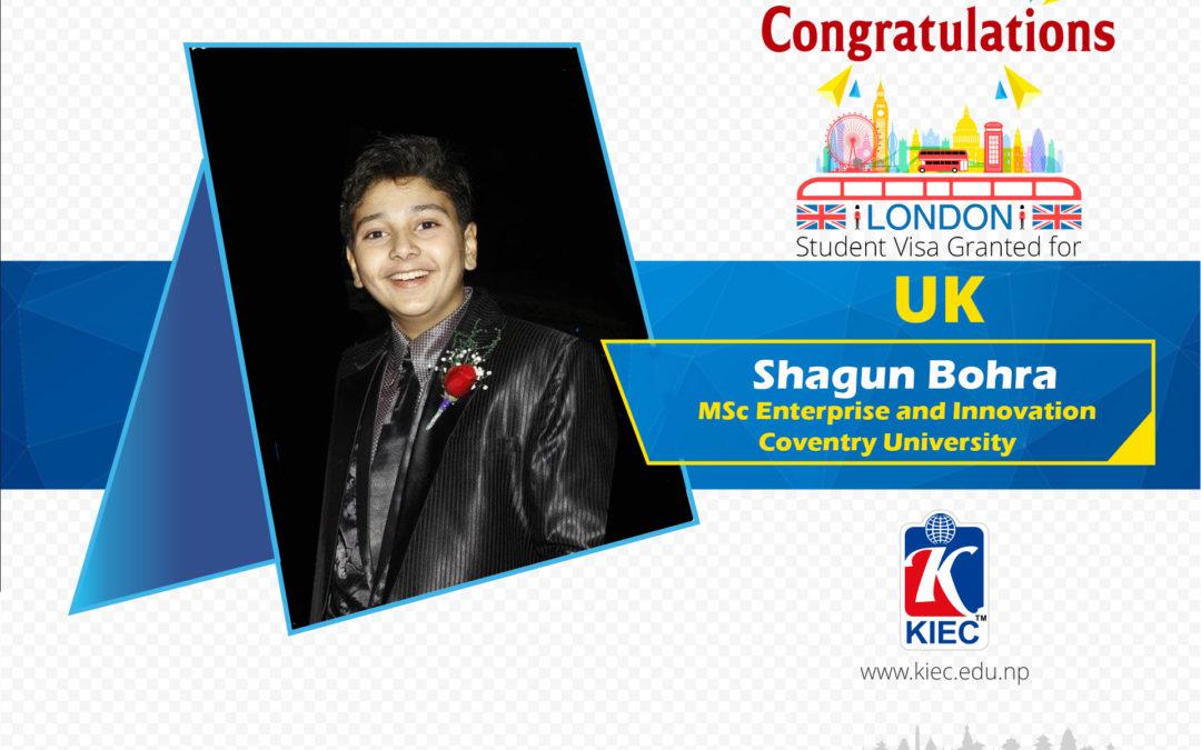 Shagun Bohra | UK Study visa Granted